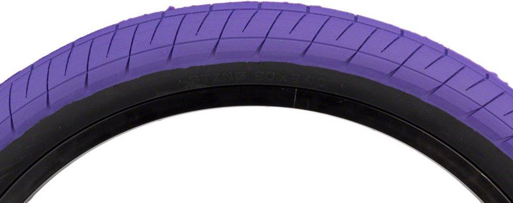 塩Plus Stingタイヤ20 x 2.4 65 PSIパープル踏み板/ブラック側壁 B079YF2TP3