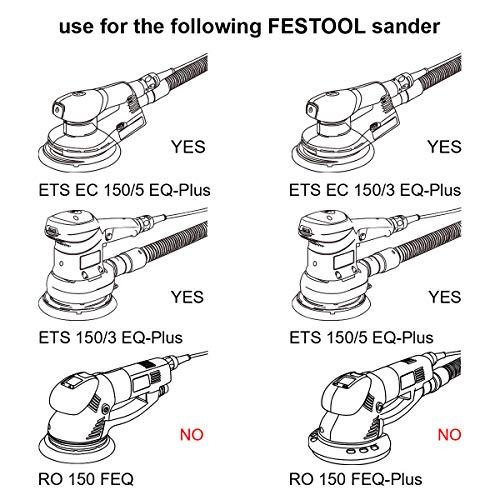ETS EC 150 Dia 8 Hole 2 Pack Compatible with Bo-SCH Festool ETS 150 LEX 150 Wadoy 498987 Sanding Pad 6 inch WTS 150//7 Orbital Sanders 150mm