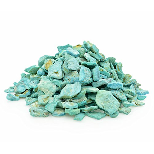 Bluejoy Genuine Pure Natural American Blue Turquoise Rough Stone for Inlay and Jewelry Design (1 Ounce)