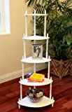 Xcdiscount Meubles - Coin 5 Tier stand Fini: Blanc