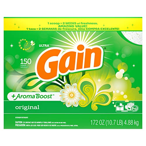 (Gain With Freshlock Original Powder Laundry Detergent, 150 Loads, 172 Oz )