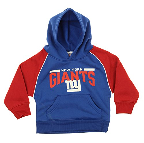 Outerstuff NFL Little Boys Toddlers Performance Pullover Fleece Hoodie, New York Giants ()