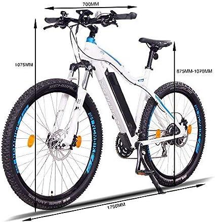 NCM Moscow Plus Bicicleta eléctrica de montaña, 250W, Batería 48V ...