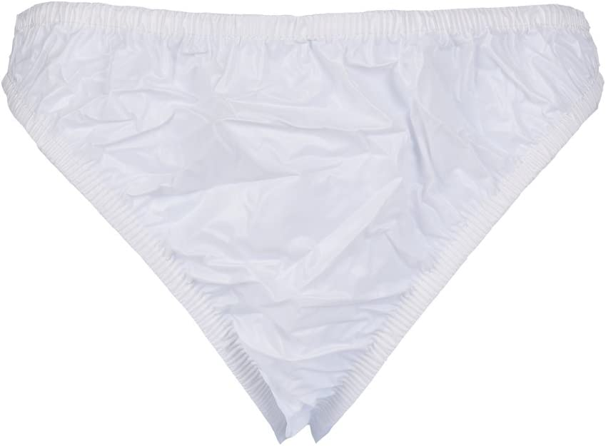 Haian Plastic Bikini Panties PVC Underwear 3 Pack Medium, Baby Blue
