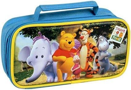 kickkick® Estuche de Winnie Pooh Disney coloreado con 1 cremalleras 19 x 10 x 5.3 cm – estuches para lápices plumas para la Escuela Niños – Disponible en colores diferentes: Amazon.es: Oficina y papelería