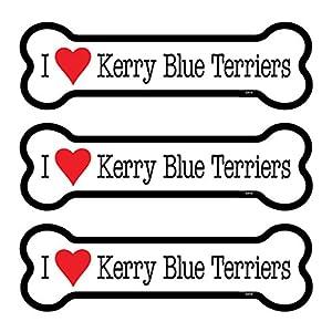 "SJT ENTERPRISES, INC. Kerry Blue Terriers 3-Pack of 2 x 7"" Dog Bone Shaped Car Magnets (SJT25416) 11"