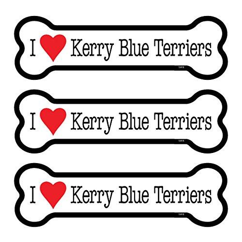 Kerry Blue Terriers 3-Pack of 2 x 7 Bone Shaped Car Magnets SJT ENTERPRISES SJT25416 INC