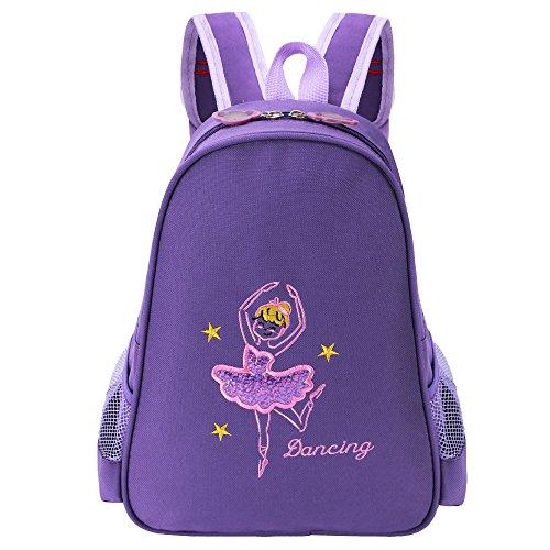 BAOHULU-Toddler-Backpack-Ballet-Dance-Bag-9-Colors-for-Girls-2-8-Year-Dark-Purple