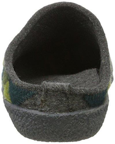 Haflinger Unisex-Erwachsene Blizzard Harly Hausschuhe Grau (Anthrazit)