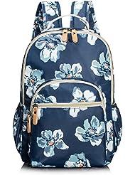 Vintage Floral Laptop Backpack School Bookbags College Bags Daypack by TOPERIN