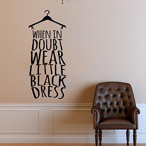 Wall Decal Window Sticker Beauty Salon Woman Face Fashion Style Clothing Boutique Dress Black Dress Model Hat t219