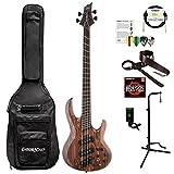 ESP LB1004SEMSRNS-KIT-1 B Series B-1004SE Multi-Scale 4-String Electric Bass Guitar, Natural Satin