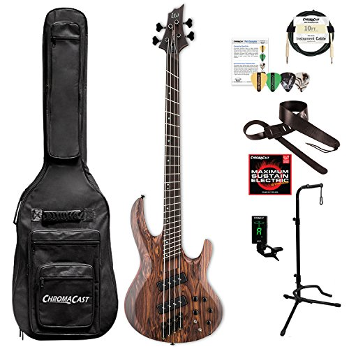 ESP LB1004SEMSRNS-KIT-1 B Series B-1004SE Multi-Scale 4-String Electric Bass Guitar, Natural Satin by ESP
