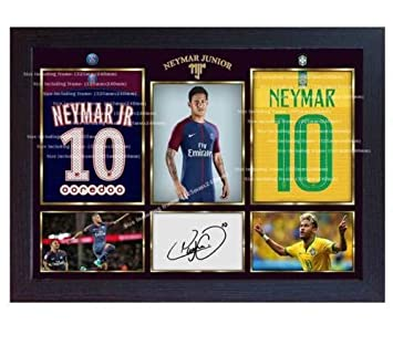 9839289fa95 SGH SERVICES New Framed poster 2018/19 Neymar photo Brazil Paris Saint  Germain photo print