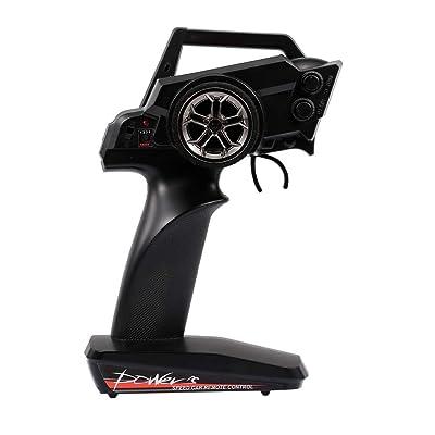 Goolsky Wltoys 2.4G 2CH Transmisor Radio Control Remoto para Wltoys 12428 1:12 RC Car Crawler: Juguetes y juegos