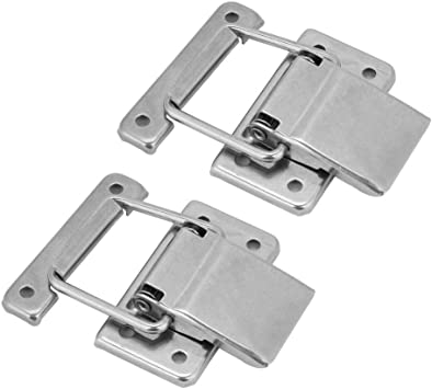 Hasp Lock Karcy Padlock Hasp 3 Safety Hasp 90 Degree Black 201 Stainless Steel Pack of 2