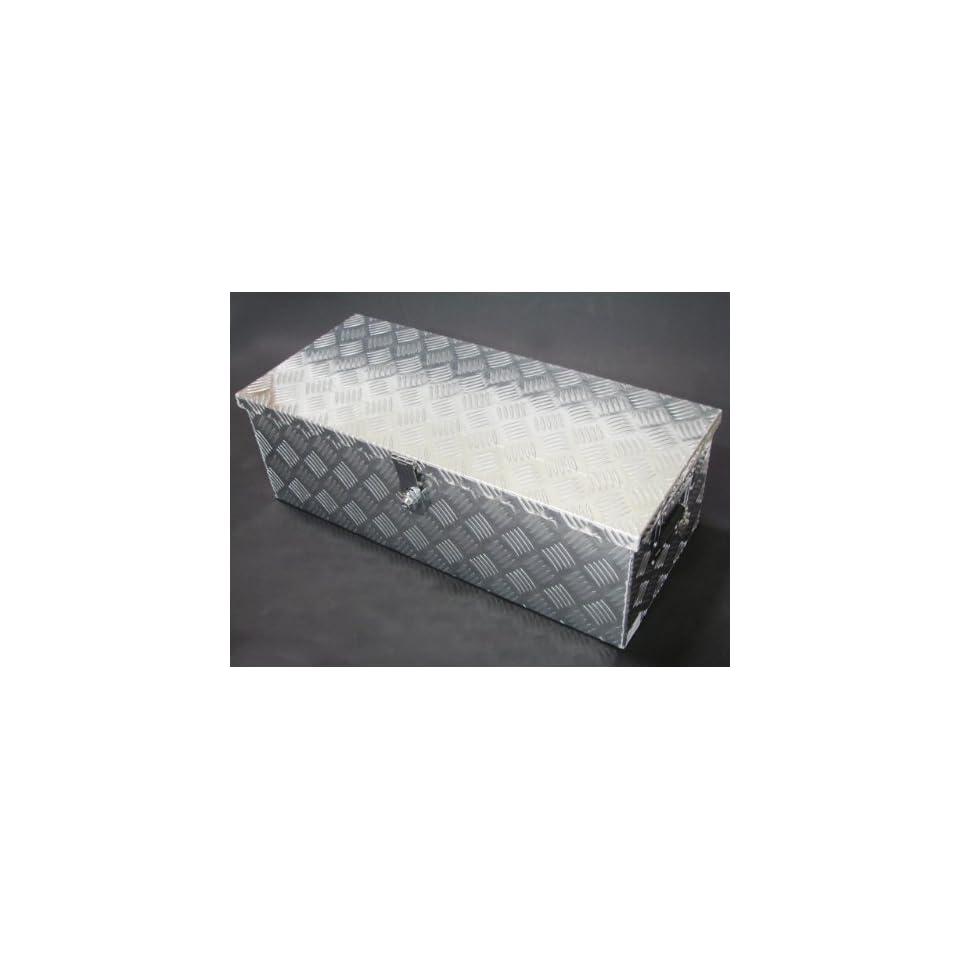 30L Aluminum Truck Pickup Bed Trailer Atv Tongue Lockable Tool Box Tote Storage