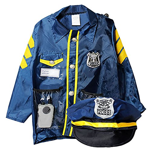 CosHouse Child Costumes Set Police Fire Fighter Construction Worker Clothes, Police Officer ()