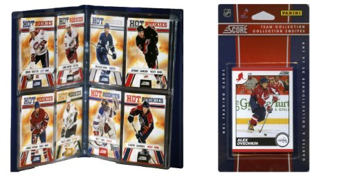 NHL Washington Capitals Licensed 2010 Score Team Set and Storage Album