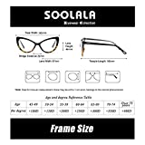 SOOLALA Womens Oversized Fashion Cat Eye Eyeglasses