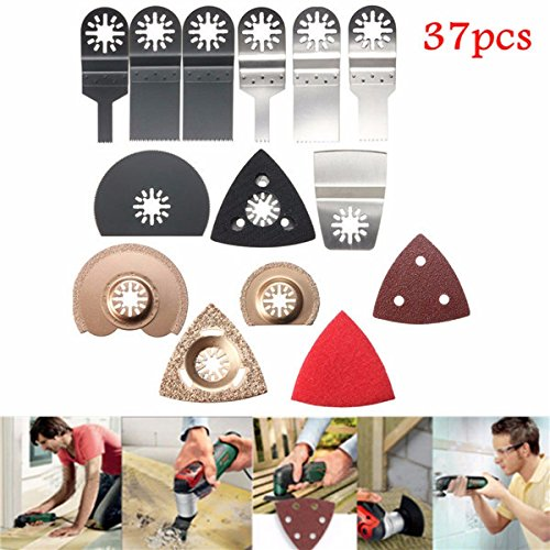 Price comparison product image 37pcs Oscillating Multi Tool Saw Blades for Fein BOSCH Dewalt Makita Multimaster