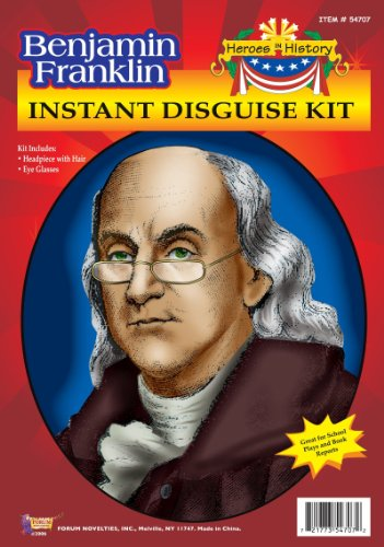 [Forum Novelties Inc Women's Heroes In History Ben Franklin Create A Costume Multicoloured One Size] (Ben Franklin Adult Mens Costumes)
