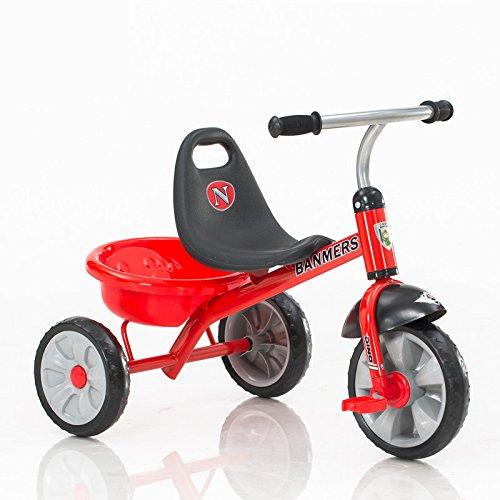 XQ 子供 軽量 EVA発泡ホイール 三輪車 1-3-5歳 赤 子ども用自転車 B07C77HMVG