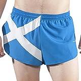 """Boa Men's 1"""" Elite Split Leg Print Flag Running Short(1000CP) (Scotland, Large)"""