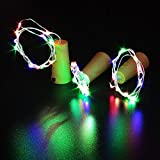 3Pcs Wine Stopper Lamp LED Bottle Wine Stopper Lamp Starry Wire Light String Strip Cork Shaped LED Bar Decor Wire String Lights for Bottle DIY, Wedding, Halloween, Christmas, Party Decor