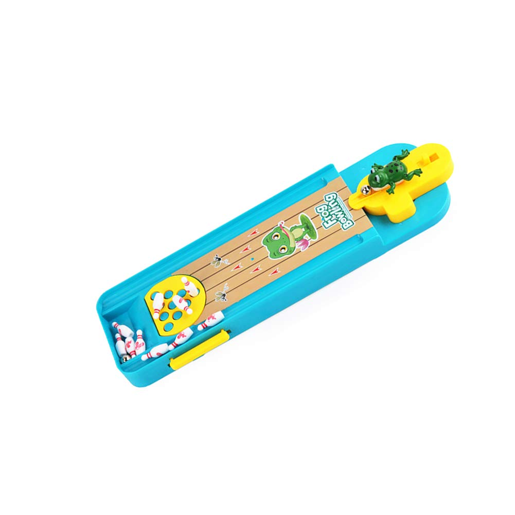 Rrunzfon Mini Rana Bowling Giochi da Tavolo Creativo Tabella Ridurre Giochi Stress Coperta 1set Desktop Tabella interattiva Bambini Educational Learning Gioco da Tavolo