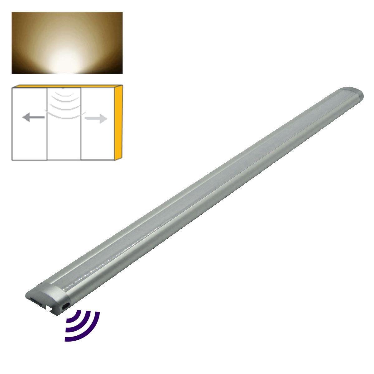 20'' LED Cabinet Light with Door Sensor, Light Turn On/Off at Door Close/Open, Wardrobe,Closet, Drawer, Cupboard Task Light with 12V Adapter by Lightlink (Door Sensor, 4000K Neutral White)