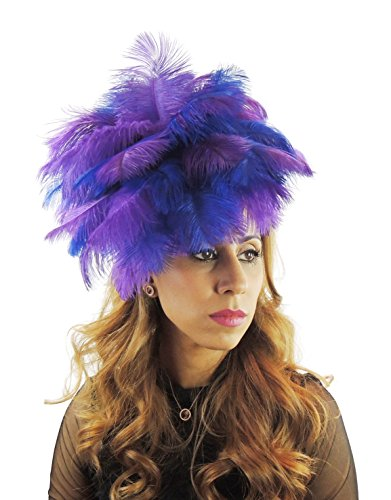 Hats By Cressida Ladies Wedding Races Ascot Derby Fascinator Headband Purple & Royal Blue by Hats By Cressida