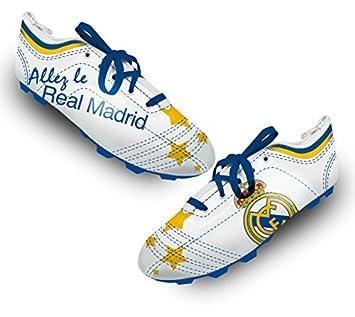 Real Madrid - 1 estuche multiusos del Real Madrid - Diseño de zapatillas de fútbol - 22 x 6 cm: Amazon.es: Oficina y papelería