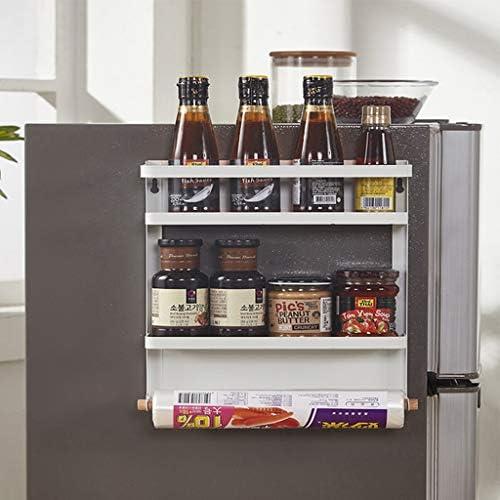 vocheer Fridge Spice Rack Organizer, 2 Tier Spice Rack Shelf for Refrigerator Spice Storage Fridge for Kitchen Organizer, White