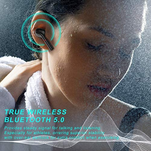 Wireless Earbuds, Huuflyty Bluetooth 5.0 TWS Stereo Sound Earbuds IPX7 Waterproof Wireless Headphones, with Charging Case Bluetooth Earbuds,Built-in Mic Headset Premium Deep Bass for Sport