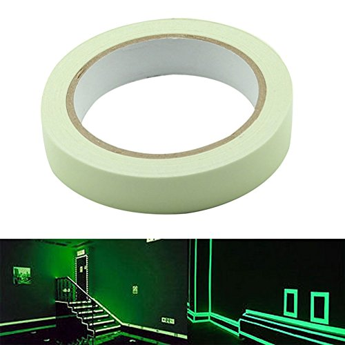 Cinta reflectante Glow In The Dark Luminous Fluorescent Night adhesivo autoadhesivo de Delaman (30mm x 3m)