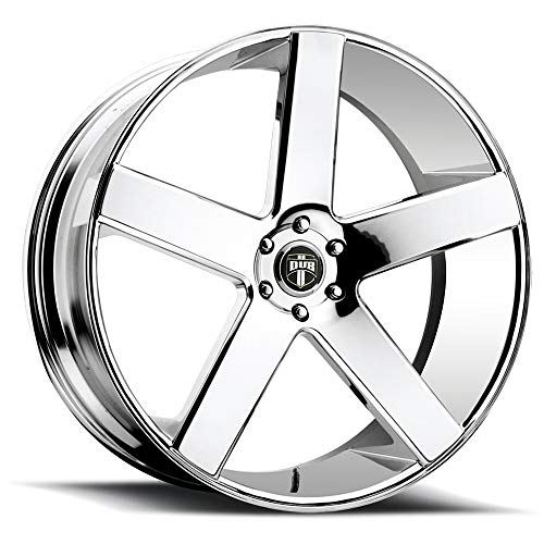 Chrome 24 Inch Rims - DUB Baller 24 Chrome Wheel / Rim 6x5.5 with a 31mm Offset and a 78.1 Hub Bore. Partnumber S115240077+31