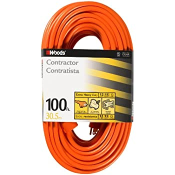 Woods 0530 12 3 Outdoor Sjtw Vinyl Extension Cord 100