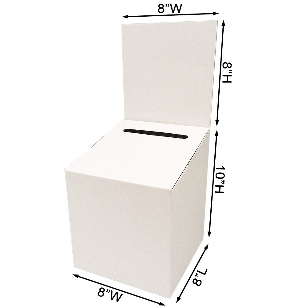 Sqaure Ballot Box with Header (Carton of 10) by Affordable Display Products