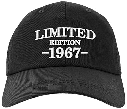 owndis Cap 50th Birthday Gift, Limited Edition All Original Parts Baseball Hat 1967-EM-0004-Black (50th Birthday Hats)
