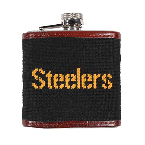 (Pittsburgh Steelers Needlepoint Flask by Smathers & Branson)
