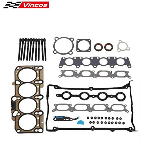 Vincos Head Gasket Bolts Kit Replacement For Audi A4 TT Compatible with Volkswagen Beetle 1999-2006 1.8L Turbo - Head Audi