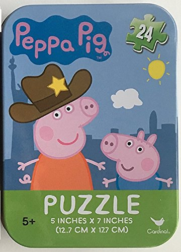 Disney  Nickelodeon  Marvel   More Licensed Character Mini Puzzles In Tins  Peppa Pig