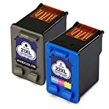 hp 21 22 ink cartridge combo pack - Vividcolor Remanufactured HP 21 22 XL Ink Cartridges 1 Black 1 Tri-color High Capacity Compatible with HP J3680 4315 F4180 F380 3930 3940 D2430 D1455 D1520 Printer