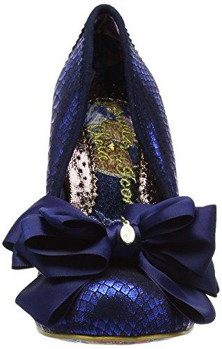 Irregular Choice Ascot - Tacones Mujer Azul (Blue Metallic)