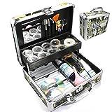Baisidai Professional 23 in 1 Single Eyelash Individual Eyelashes Extension False Black Eye Lash Graft Lashes Full Kit Set with Fashion Hard Case Suitcase (C)A150