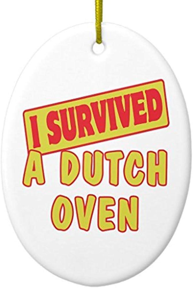 Cheyan I Survived a Dutch Oven Ceramic Ornament Oval