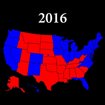 Amazoncom Home Comforts Laminated Map 2016 Us County Red Blue - 2016-us-election-county-map