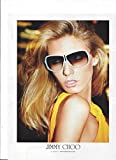 **PRINT AD** With Angela Lindvall For 2009 Jimmy Choo Blue Frame Sunglasses