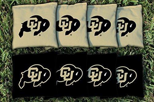 NCAA Replacement Corn Filled Cornhole Bag Set NCAA Team: Colorado Buffaloes - 8 Replacement Bean Bags